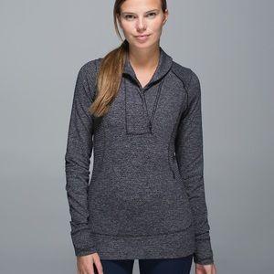 lululemon athletica Sweaters - Lululemon Think Fast Pullover Size 6 Herringbone